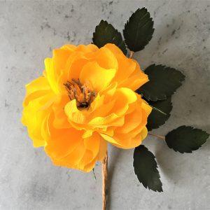 crepe paper Rose tutorial