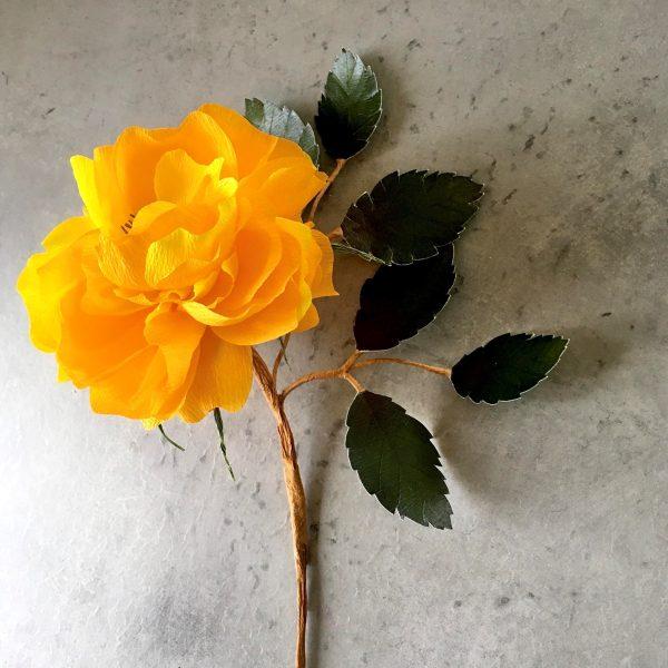 DIY Crepe paper Garden Rose tutorial
